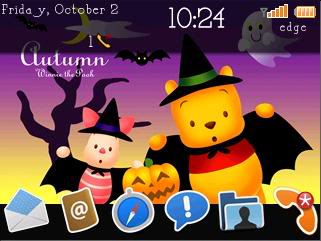Free Disney Halloween Theme For Blackberry Curve 8520 created by