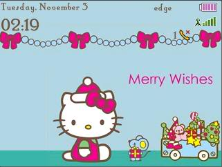 Download Free Hello Kitty Seasons Greetings Theme For Blackberry Curve